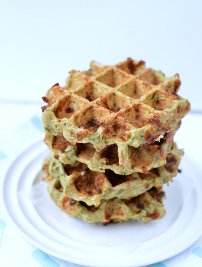 Zucchini Buckwheat Waffles