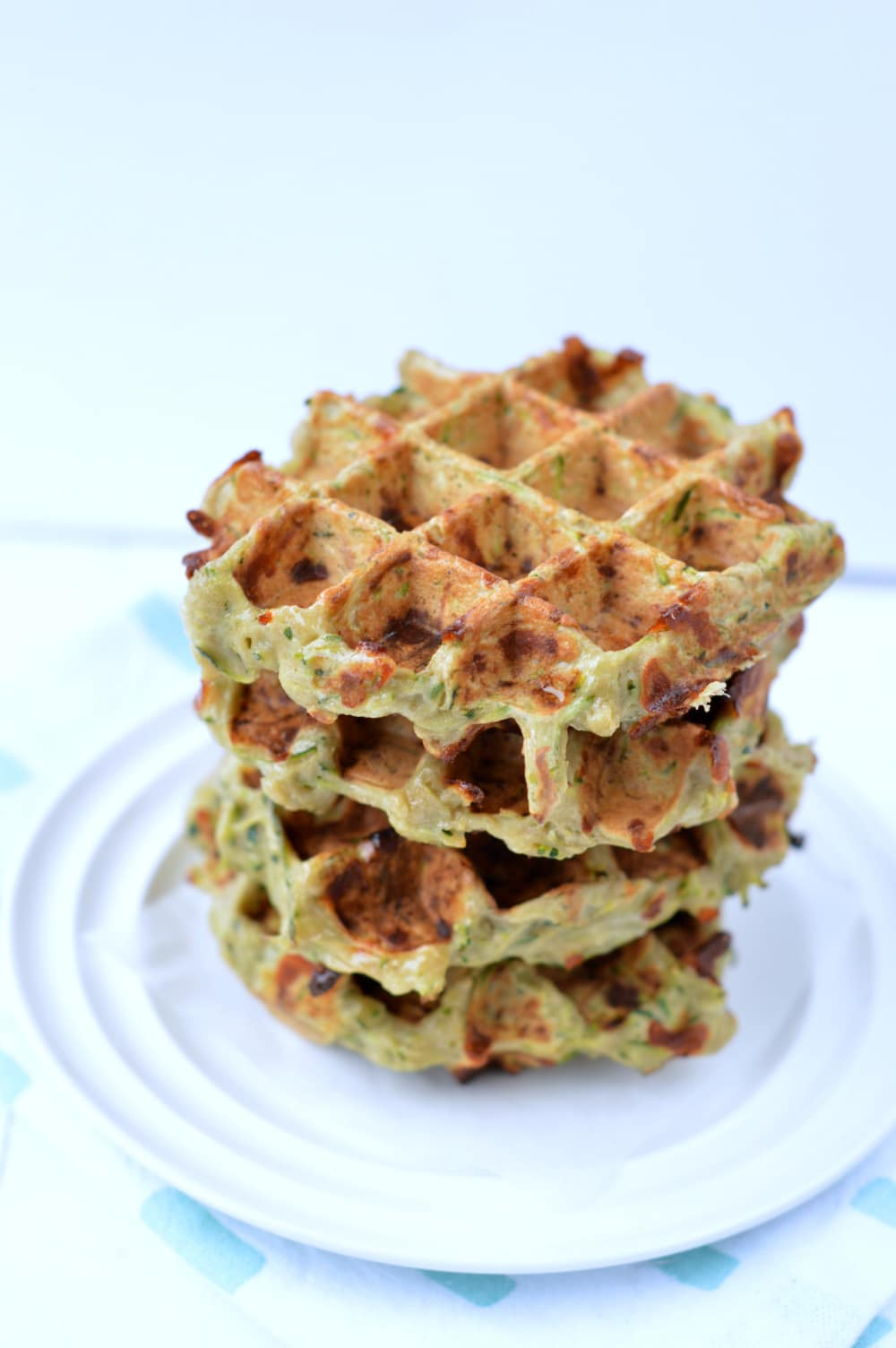 Zucchini Buckwheat Waffles. An easy clean eating recipe.
