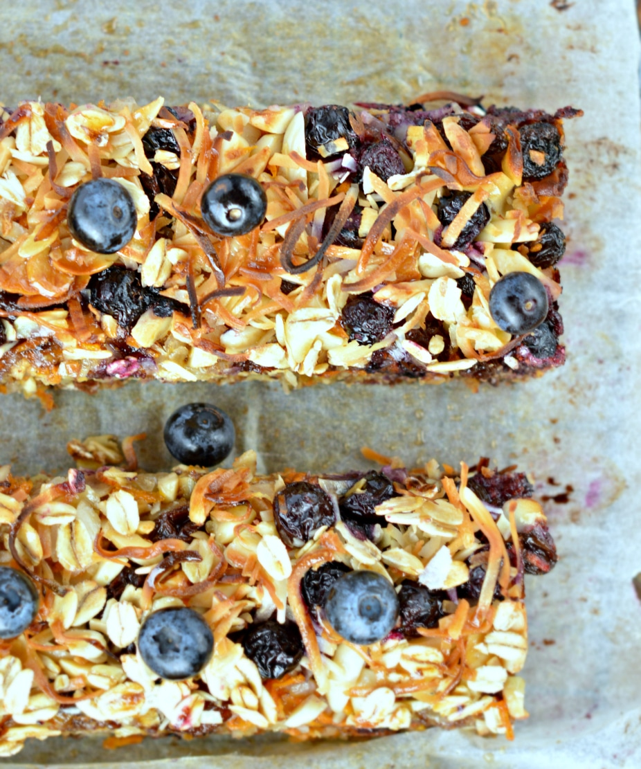 oatmeal breakfast bars vegan carrot cake