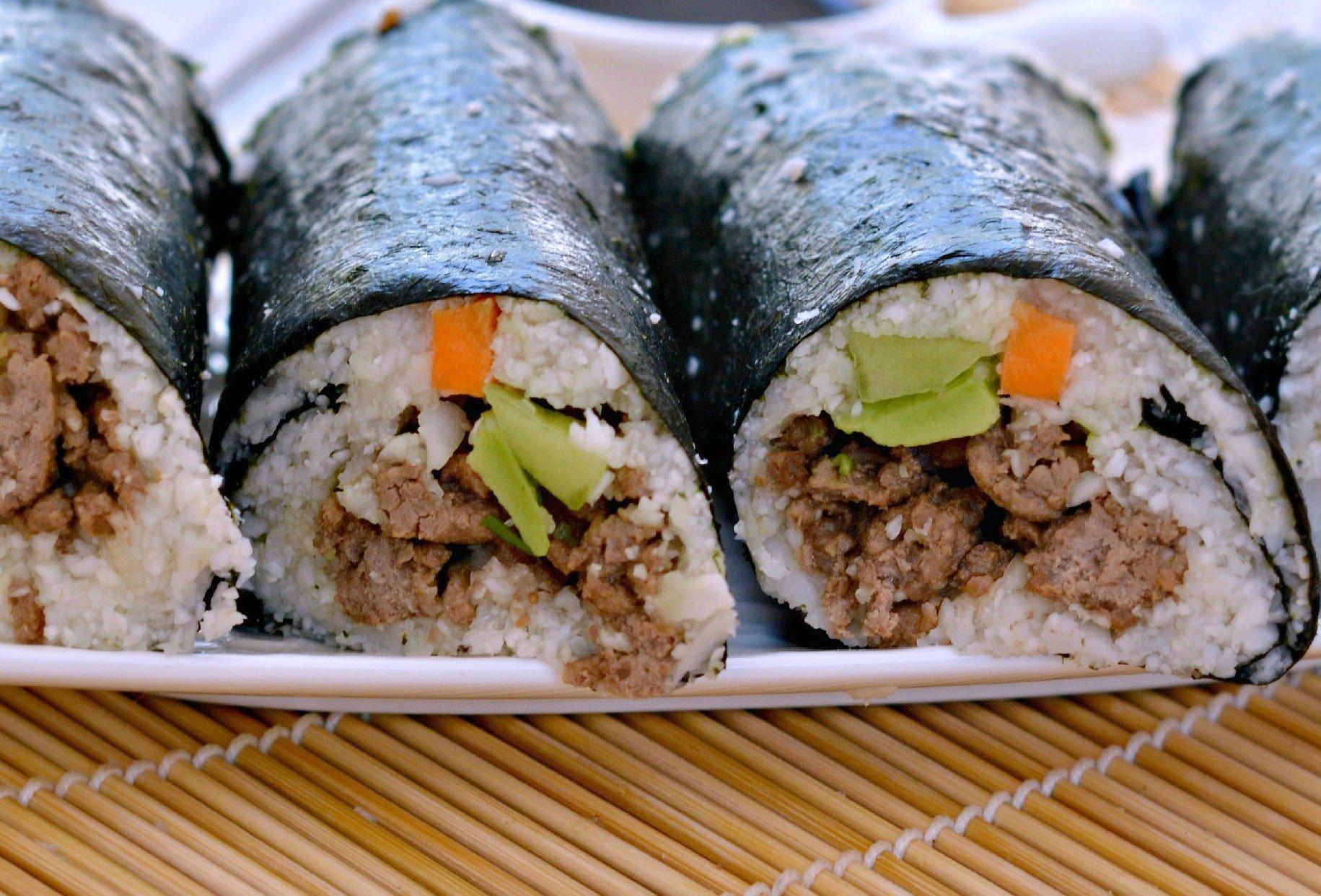 cauliflower rice sushi zoom