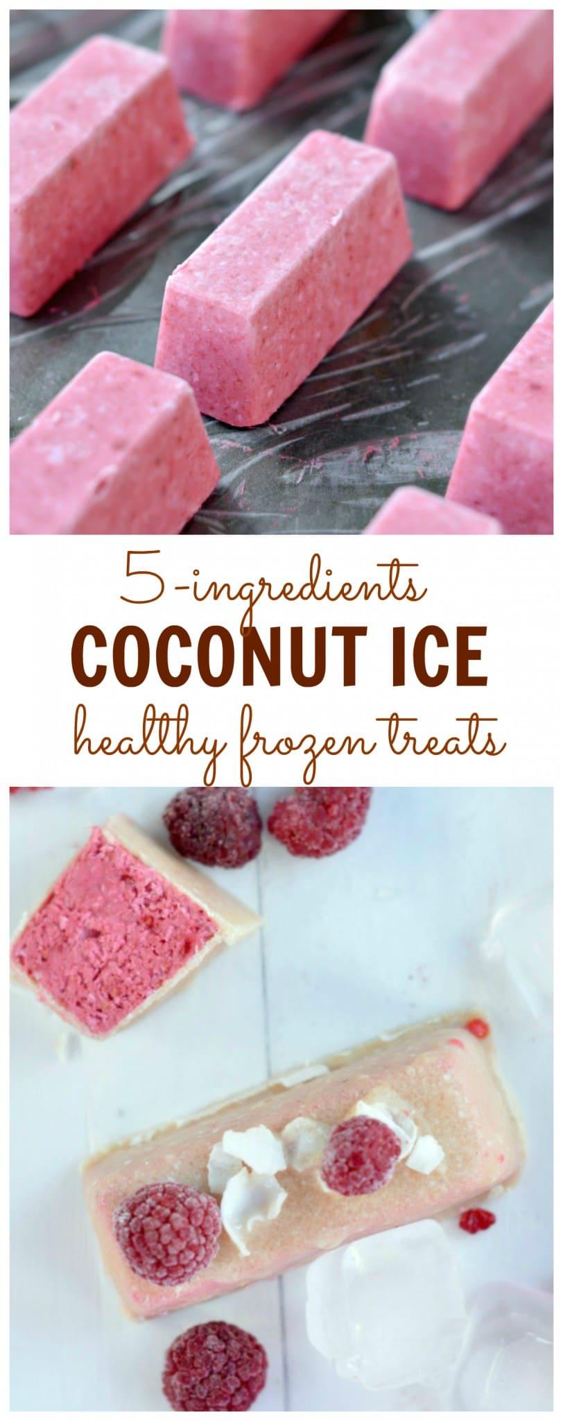 coconut ice frozen vegan treat