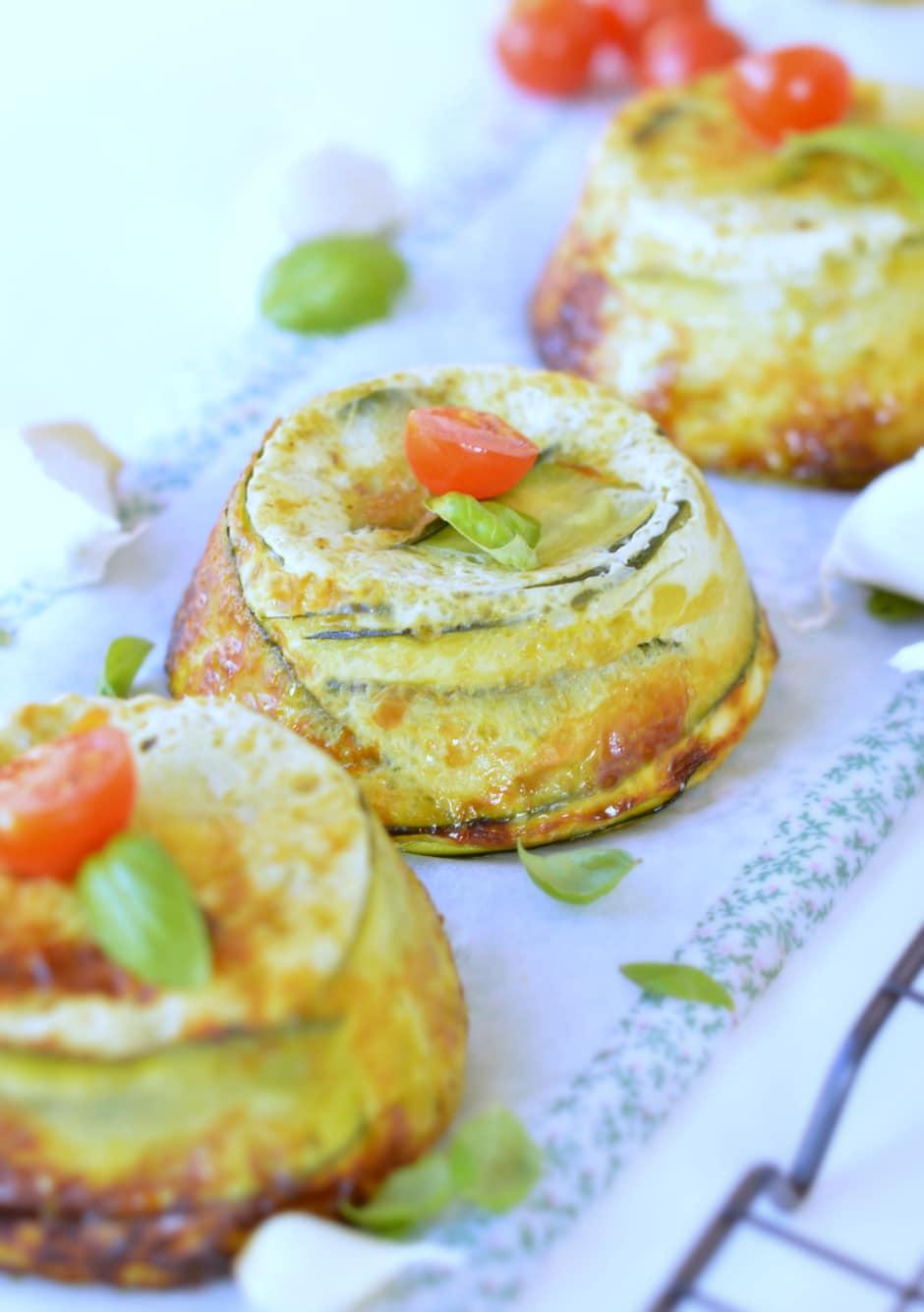crustless zucchini quiche with pesto amp parmesan video