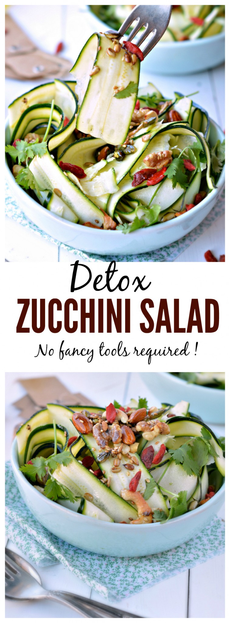 detox zucchini salad