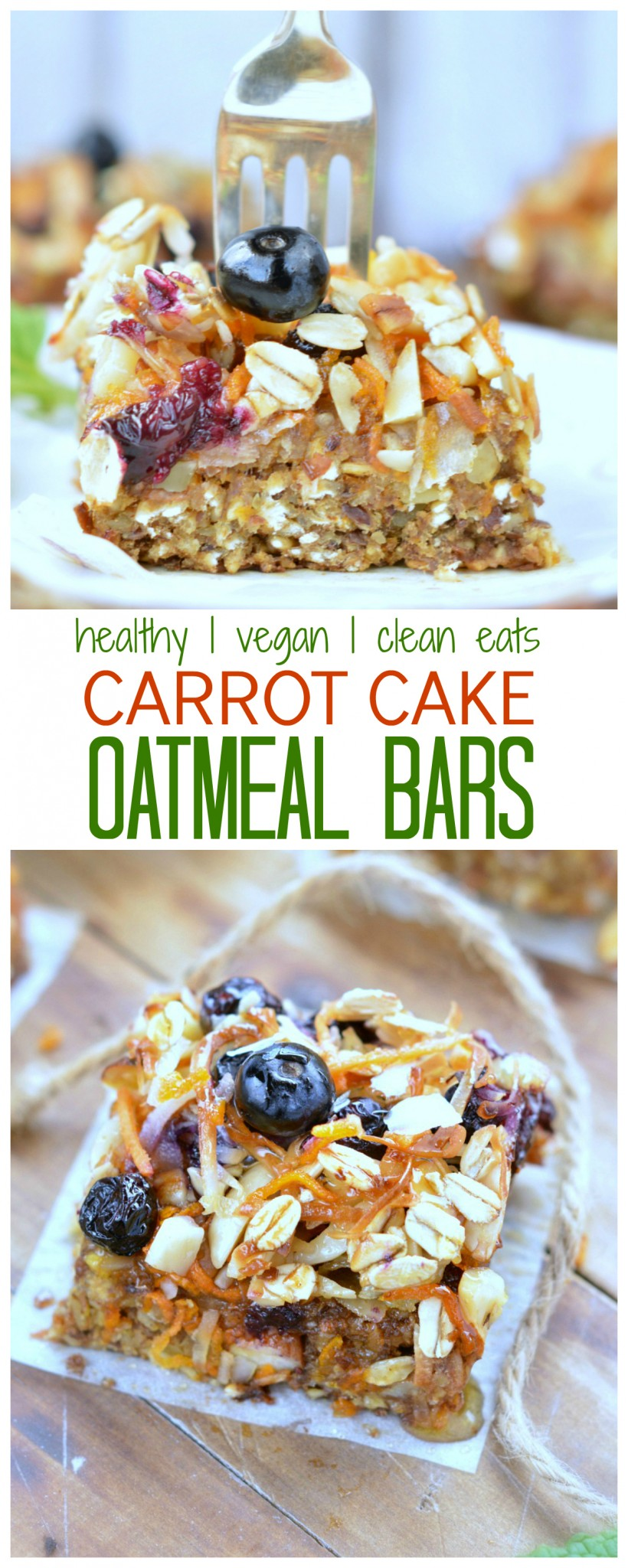 Carrot Cake Baked Oatmeal Bars