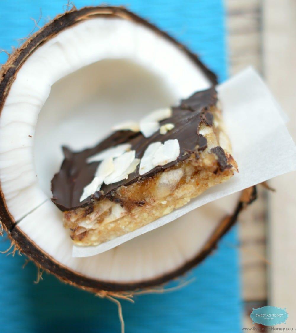 gluten free samoa cookie bars