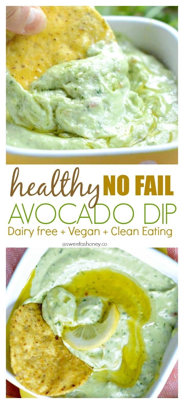 Dairy free Avocado Dip   Vegan Avocado Dip   Easy Avocado Dip Recipe   Clean eating dip