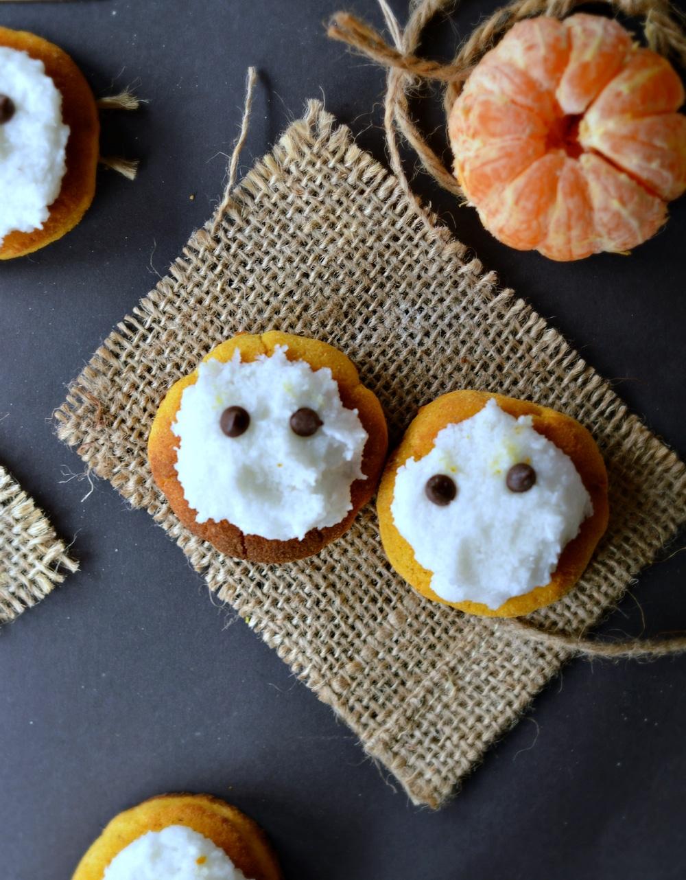 healthy halloween pumpkin cookies