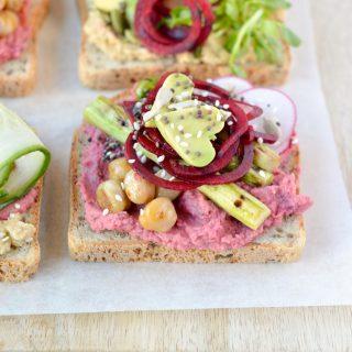 healthy toast recipes asparagus beet