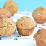 healthy wholewheat banana muffins