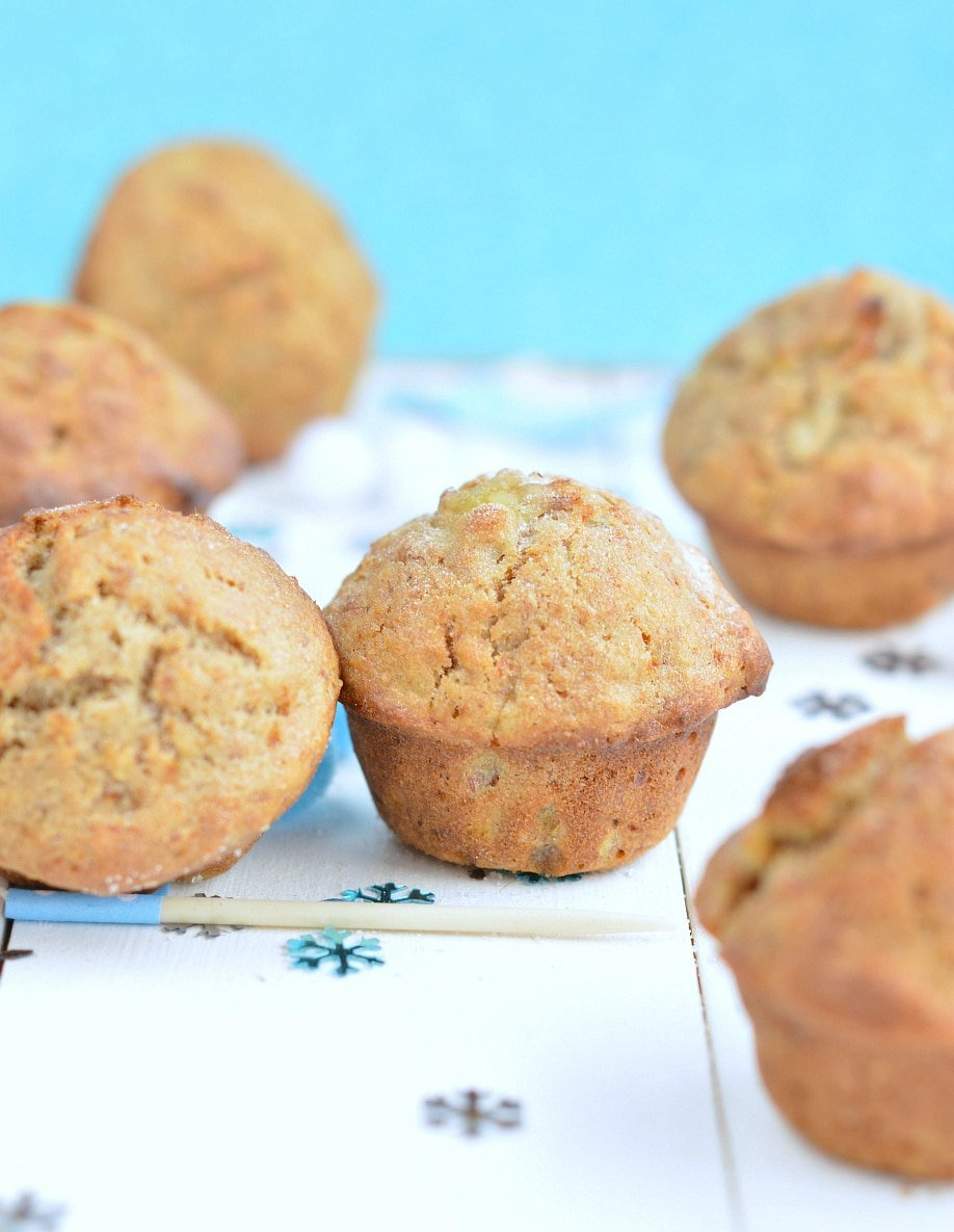 healthy wholewheat banana muffins