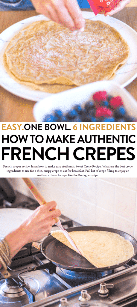French sweet crepes recipe