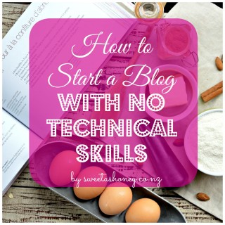 how to start a food blog with no technical skills