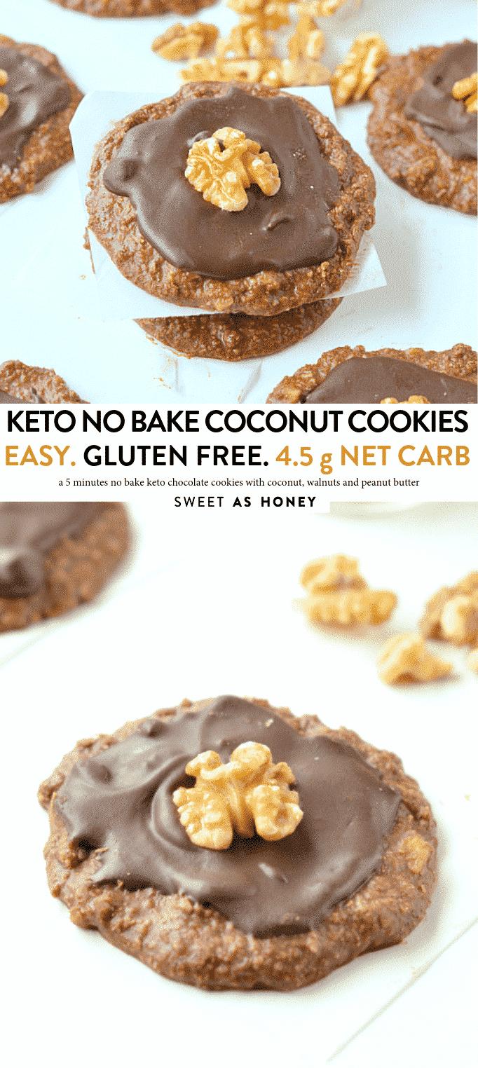 KETO NO BAKE COCONUT COOKIES
