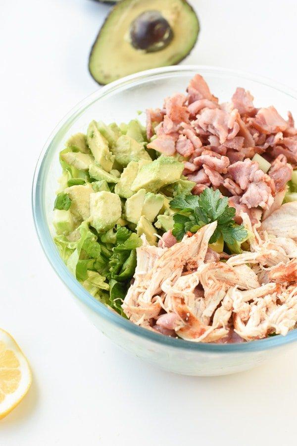 keto avocado chicken salad