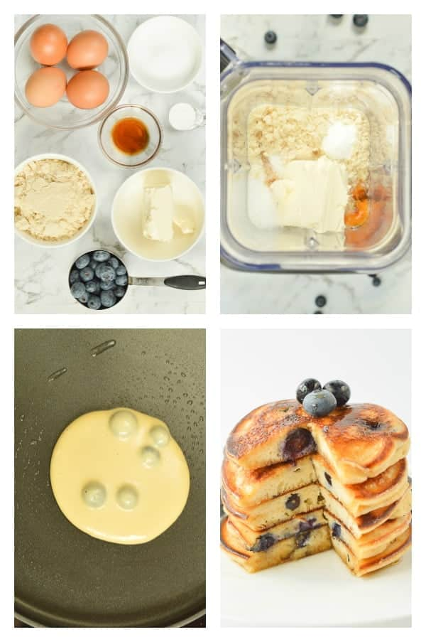 KETO BLENDER PANCAKES with Cream Cheese 2.4 g net carbs, fluffy, easy 6 ingredients #ketopancakes #keto #pancakes #lowcarbpancakes #lowcarb #creamcheese #almondflour #easy #blender #healthy # fluffy #glutenfree #best #almond #ketones #ketorecipes #lowcarbrecipes #breakfast