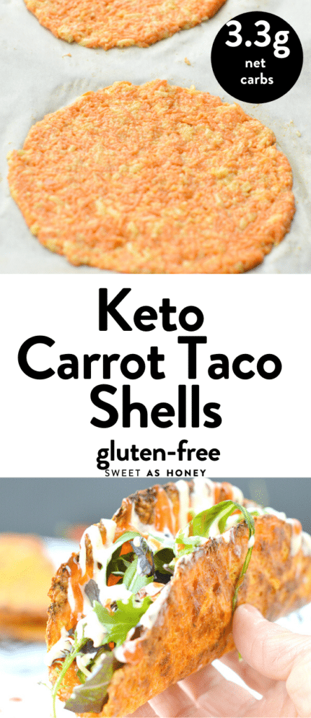 Keto carrot taco shells