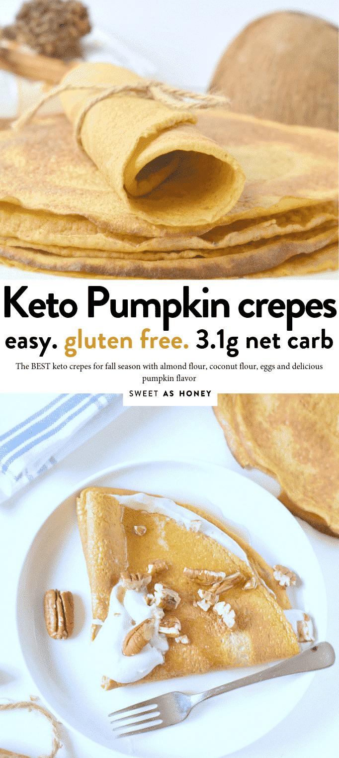 KETO PUMPKIN CREPES #ketocrepes #keto #ketofall #ketopumpkin #easy #pumpkin #fallrecipes #crepes #easy #keto #eggfast