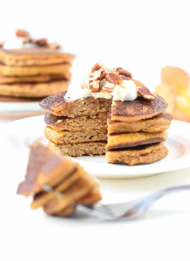 keto pumpkin pancakes with coconut flour