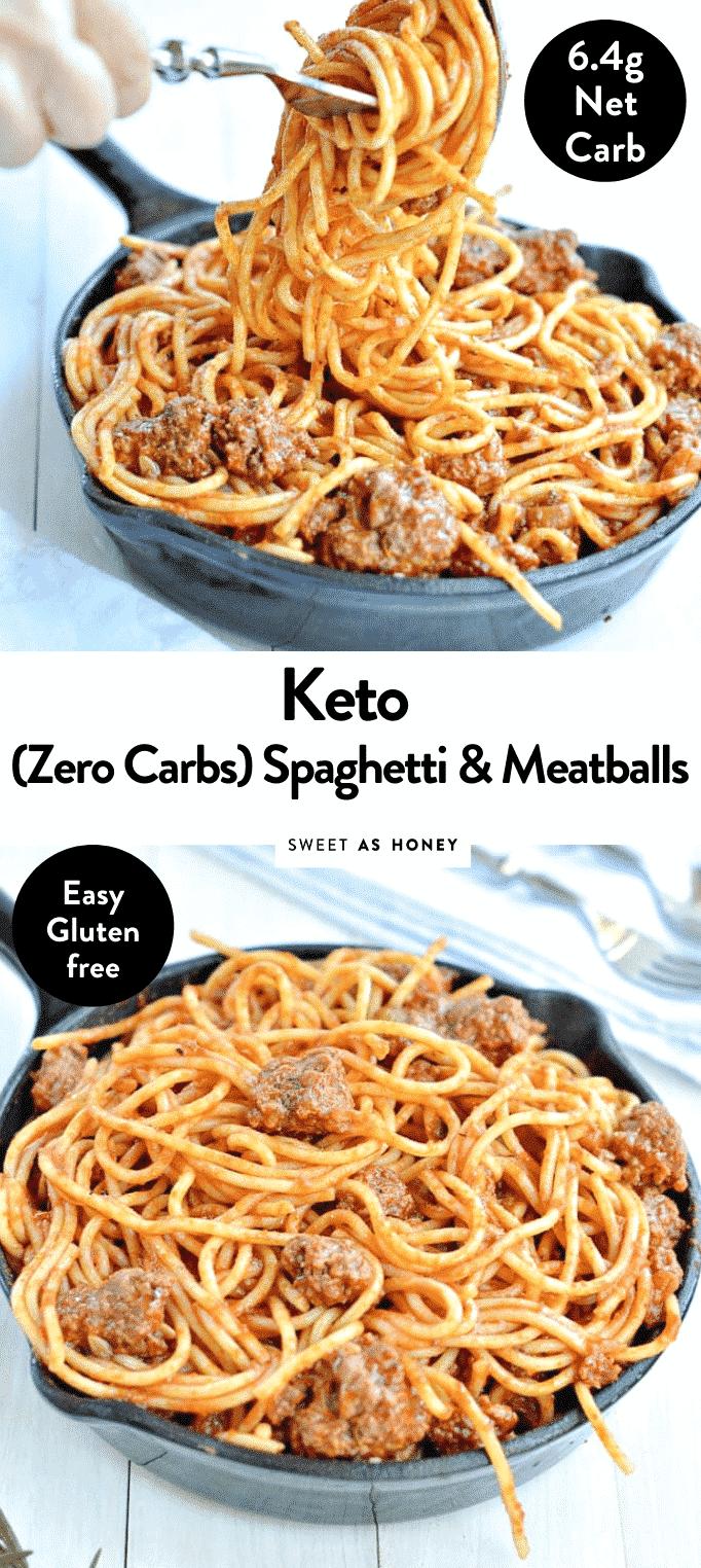 KETO SPAGHETTI AND MEATBALLS with zero carbs wonder noodles #ketopasta #ketonoodles #ketospaghetti #ketomeatballs #meatballs #ketodinner #ketomeal