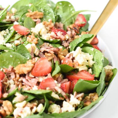 keto strawberry spinach salad