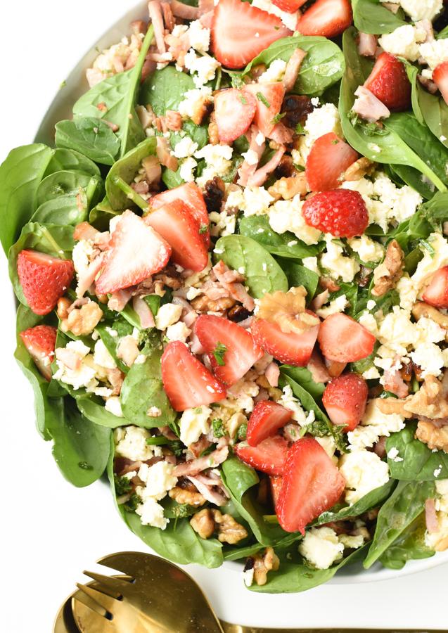 keto warm bacon spinach salad