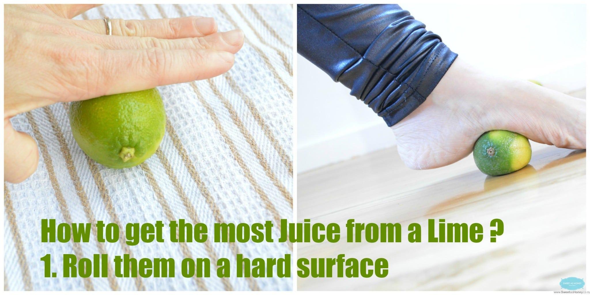 lemon press on hard surface text