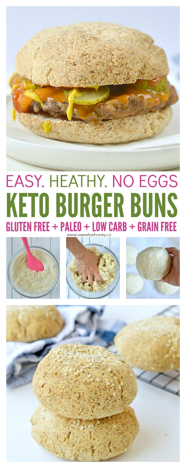 Low carb burger buns KETO + VEGAN