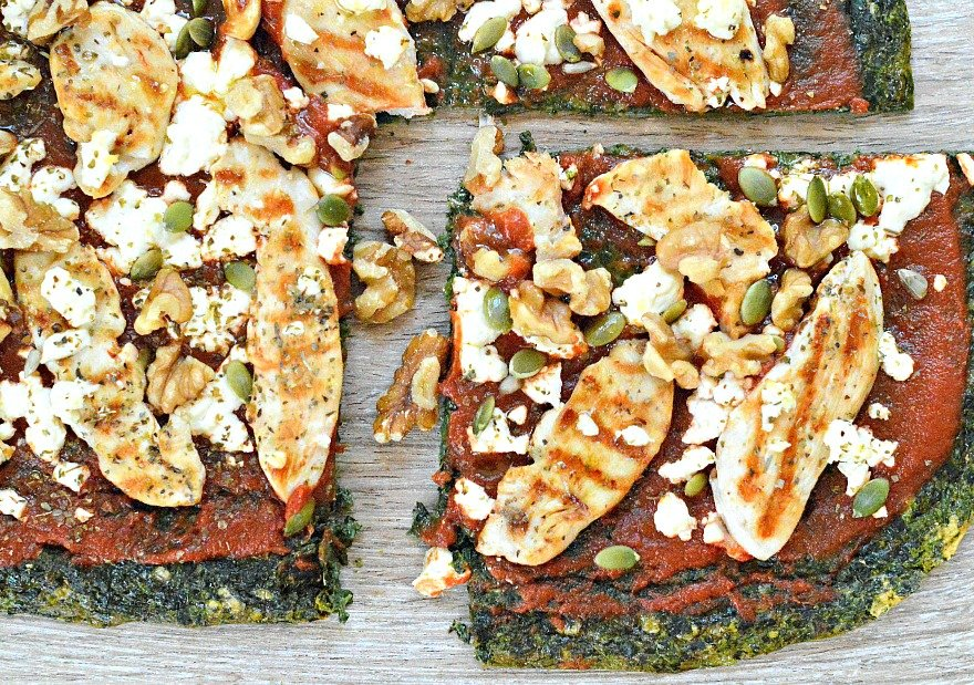 low carb spinach pizza crust
