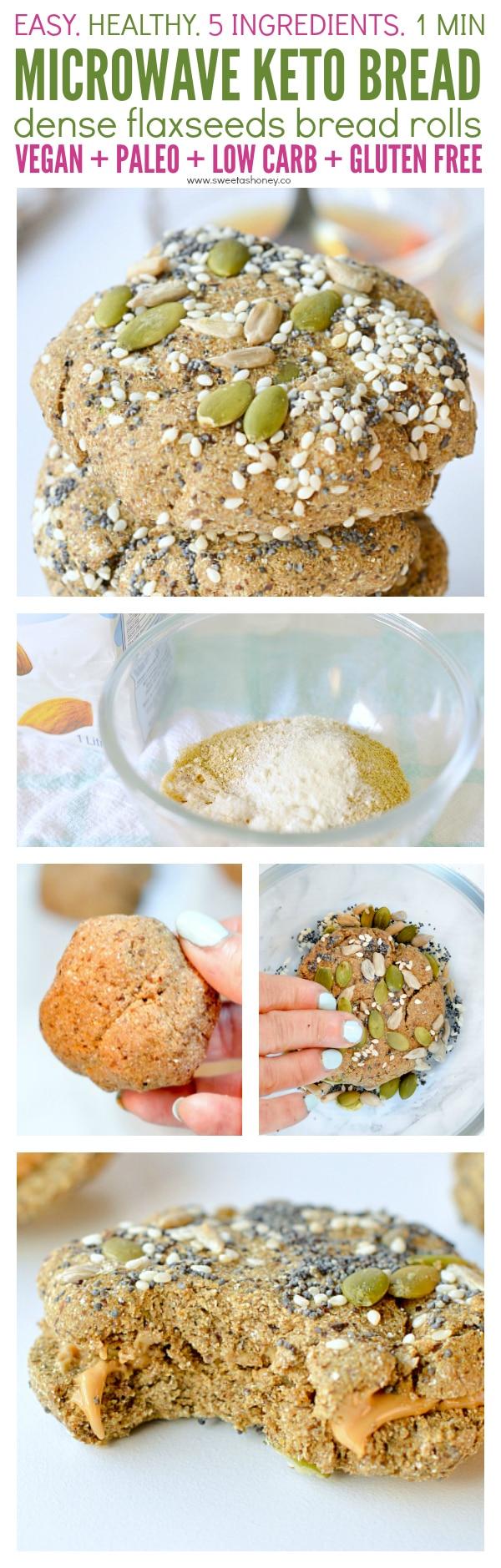 Microwave keto bread easy