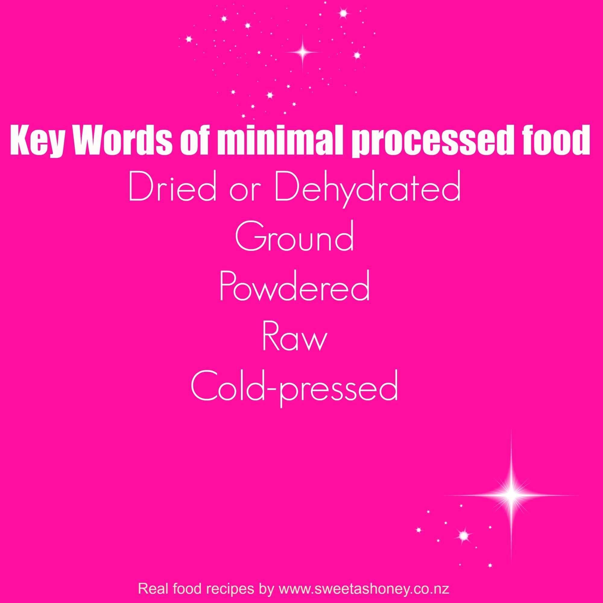 minimal processed food
