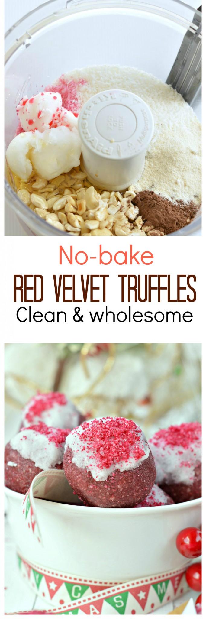 no bake red velvet truffles