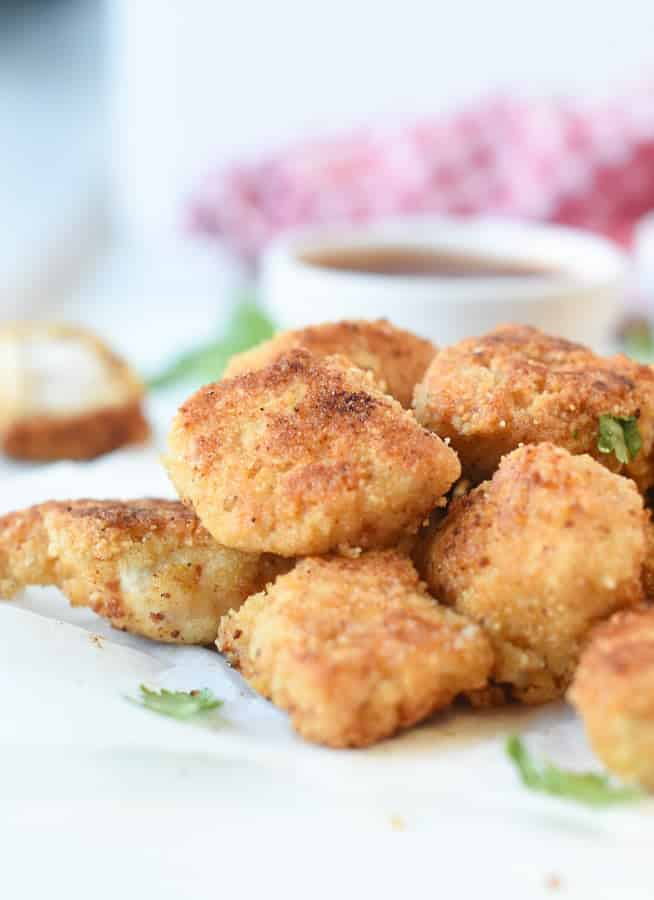 oven fried keto chicken nuggets