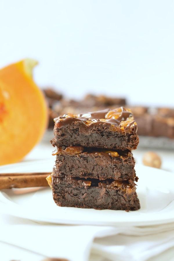 paleo pumpkin brownies vegan
