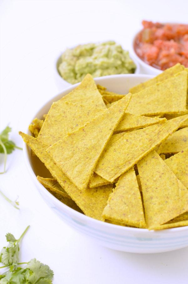 KETO BAKED TORTILLAS CHIPS grain free, low carb #keto #tortillaschips #baked #homemade #healthy #easy #grainfree #paleo #almondflour #vegan