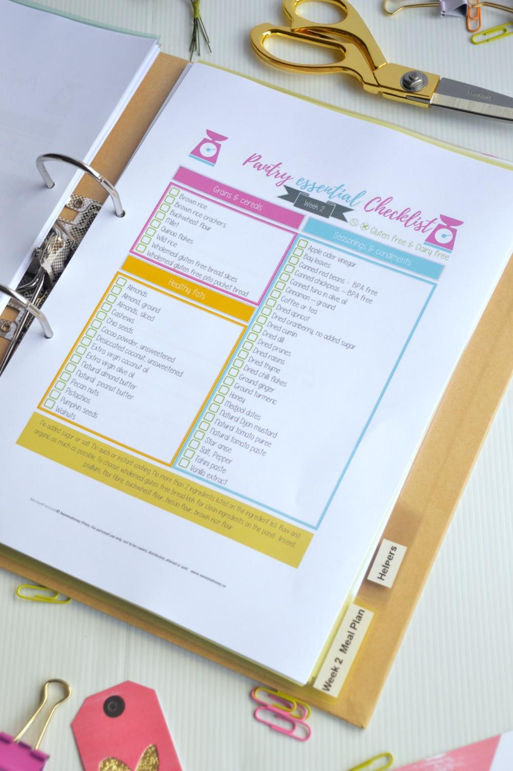 pantry checklistweek 2