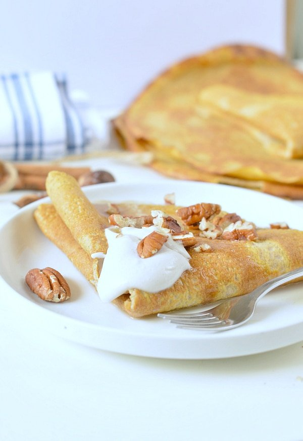 pumpkin crepes low carb