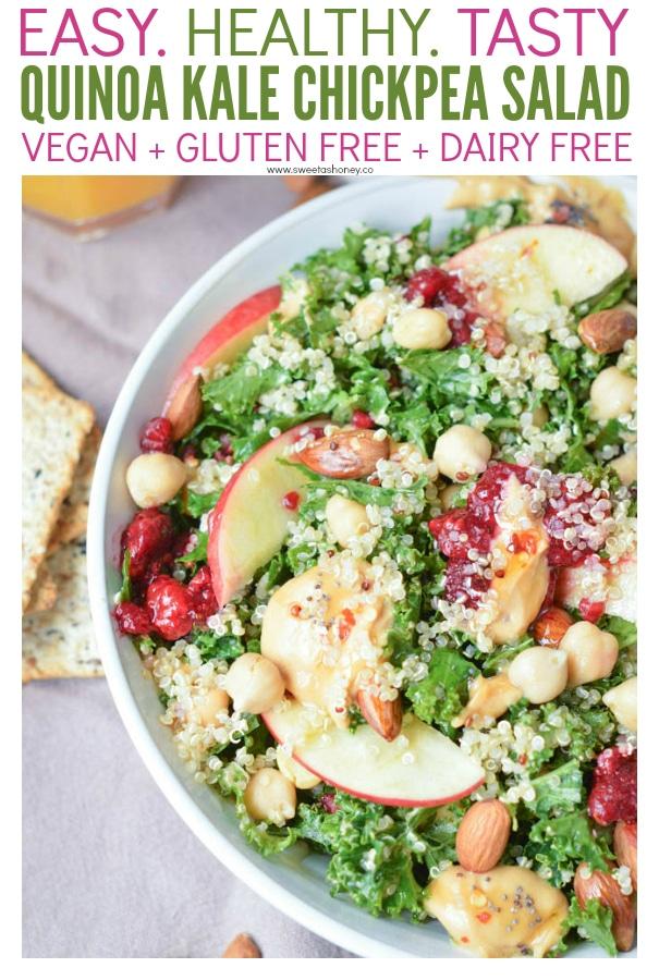 Quinoa Kale Chickpea Salad