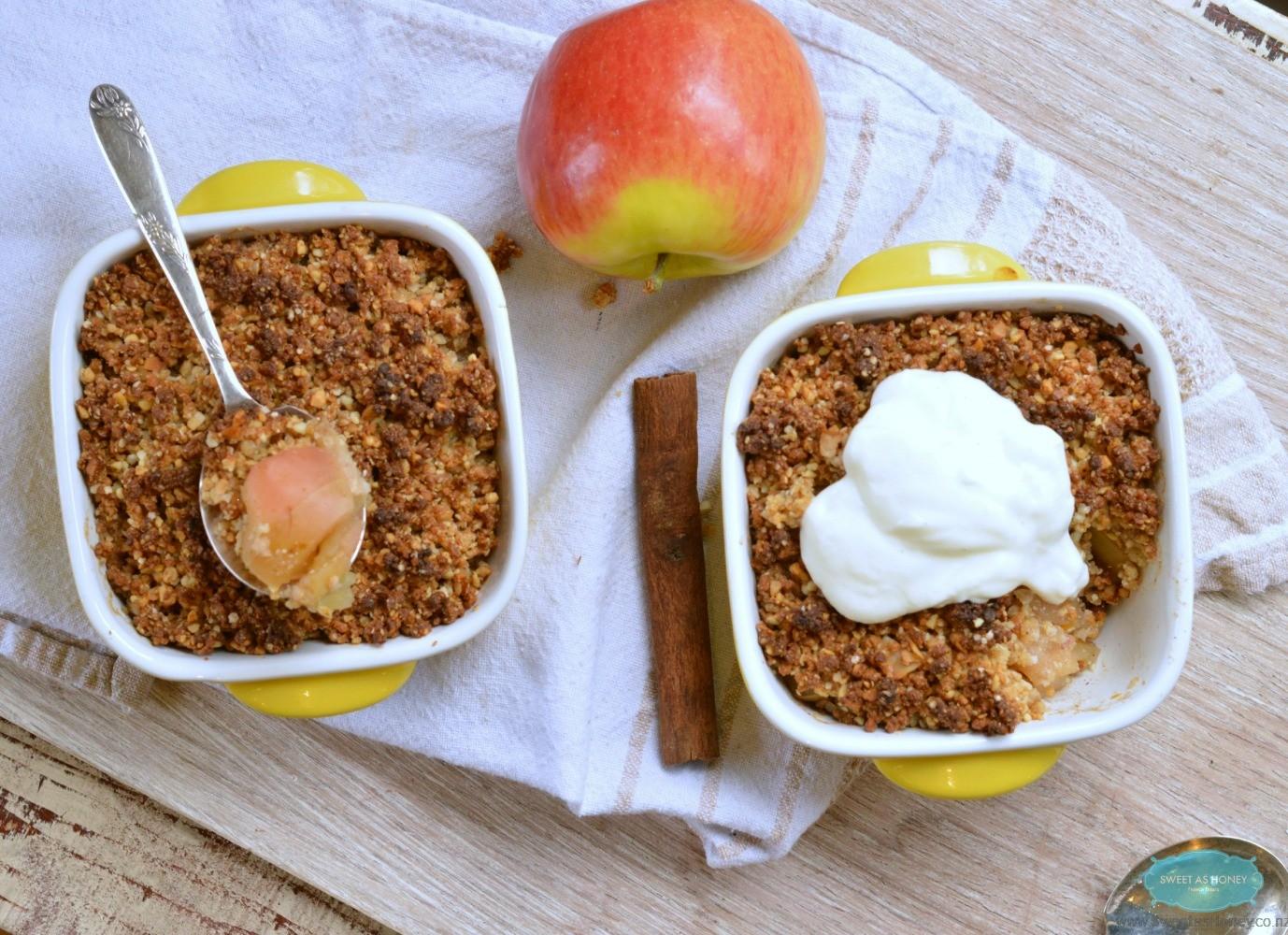 quinoa apple crumble gluten free