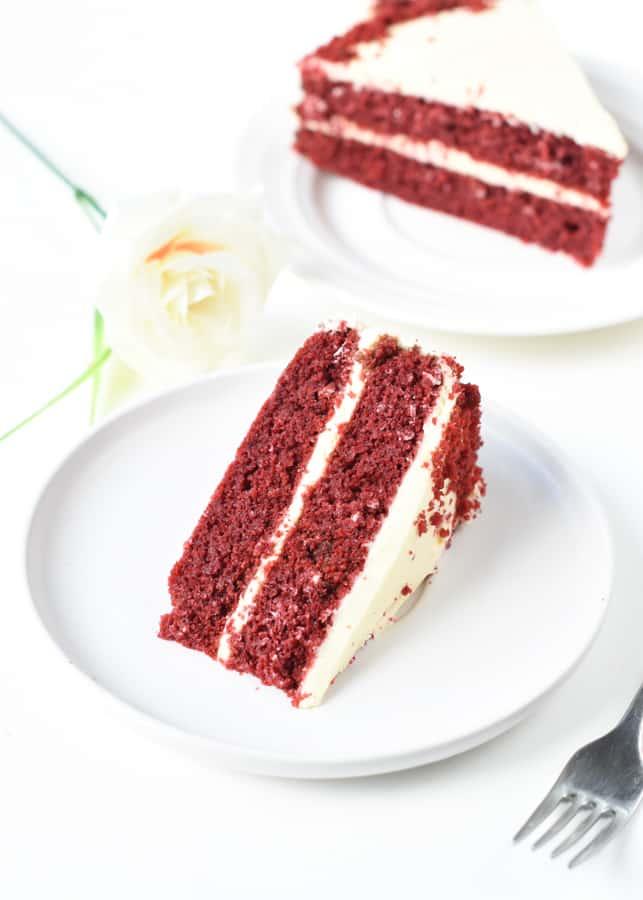 Red Velvet Cake with Almond Flour
