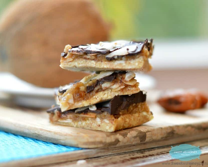Gluten-Free Samoa Cookie Bars