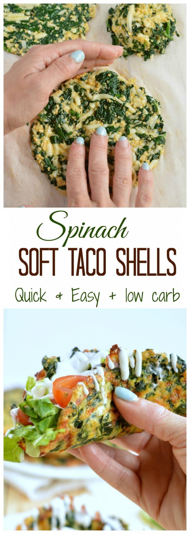 Soft Taco Recipe   Low Carb Spinach Taco Shells