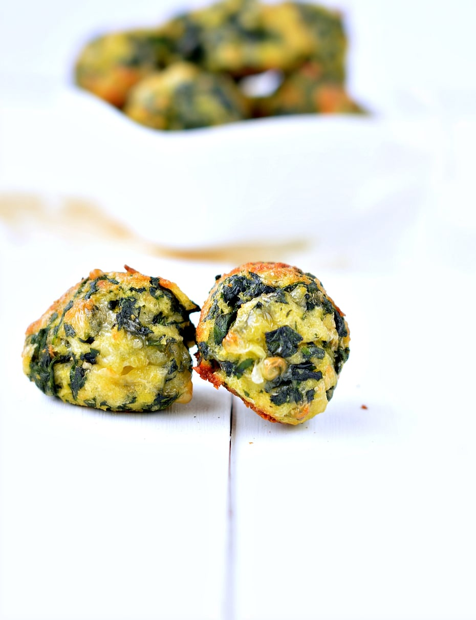 spinach balls with cheese