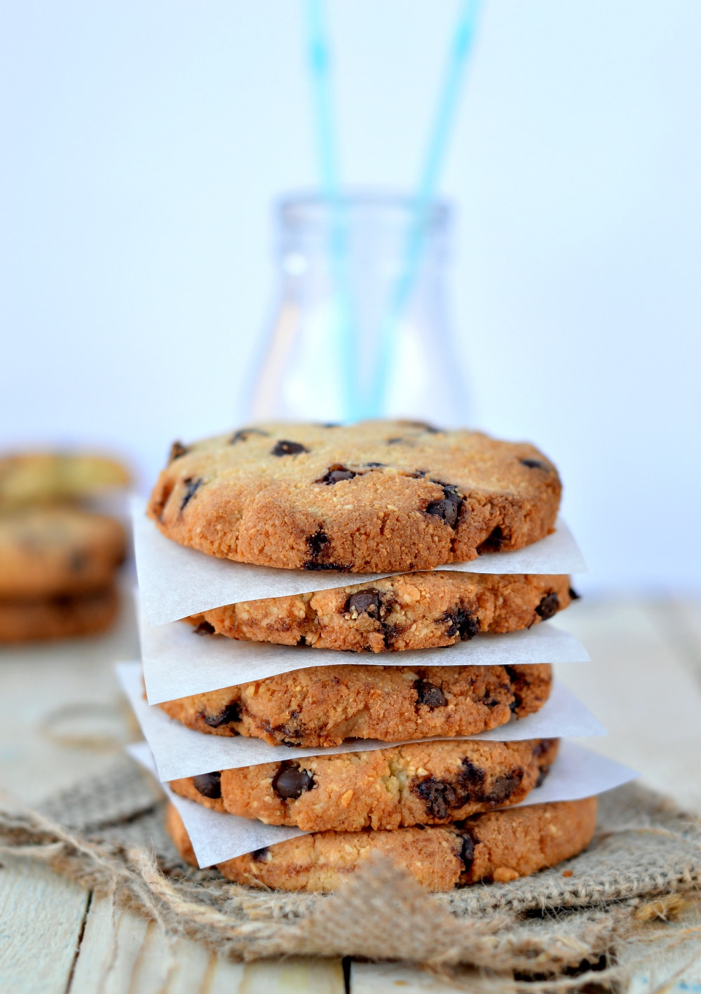 Delicious sugar free chocolate chip cookies recipe. One bowl easy low carb cookie recipe with coconut flour, cashews and stevia. Healthy gluten free chocolate chip cookies for diabetic.
