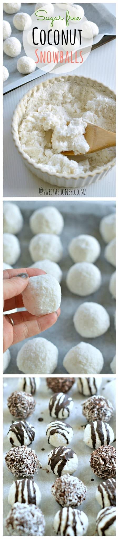 Coconut Balls | Healthy Christmas Truffles - Sweetashoney