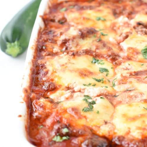 the BEST Keto zucchini lasagna low carb