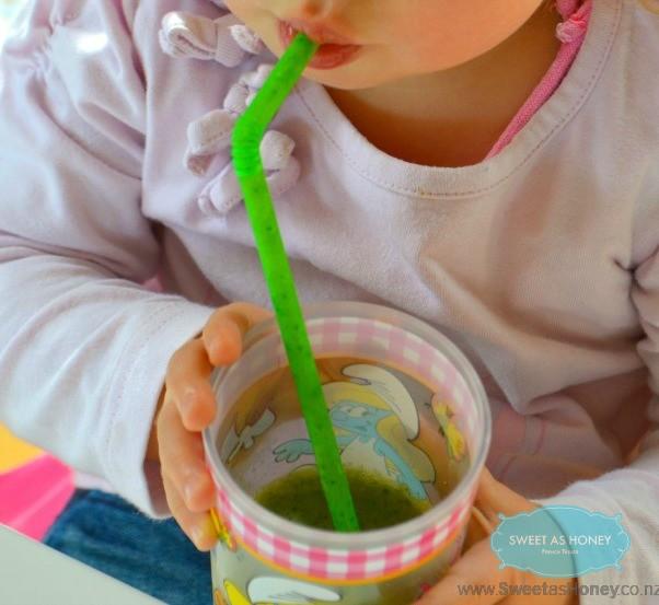 toddler green smoothie straw
