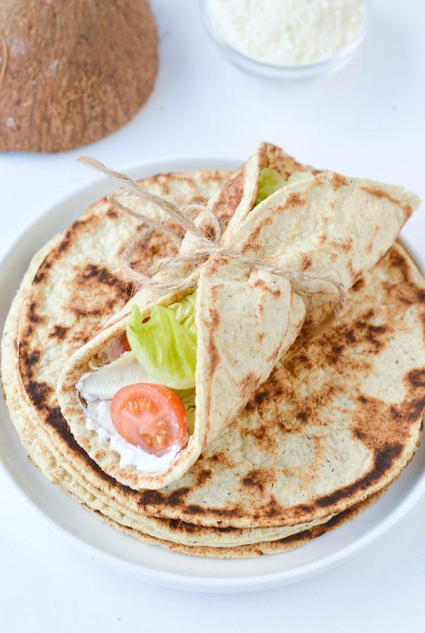Coconut flour flatbread keto low carb gluten free