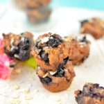 Healthy and easy vegan blueberry muffins recipe with mashed banana, coconut oil and no sugar. The best healthy eggless blueberry muffin recipe rich in fibre and protein.