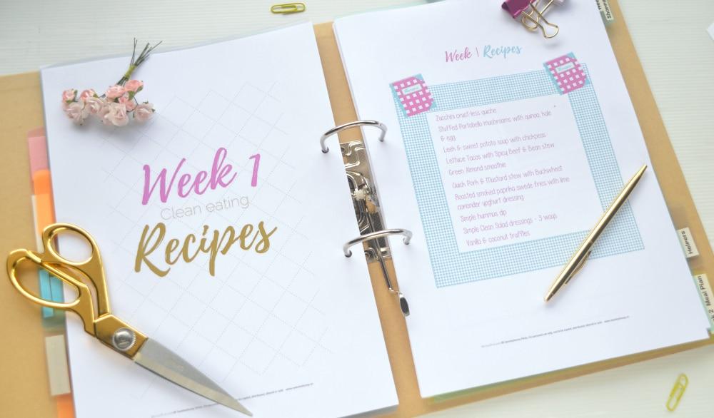 week 1 recipes