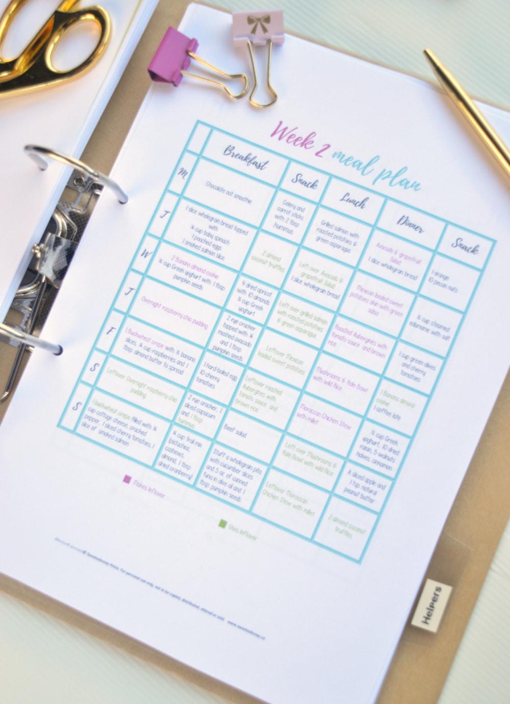 week2 meal plan